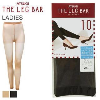 アツギ(Atsugi)のアツギ LEG BAR レギンス 10分丈ひんやり涼感 L_LLサイズ ブラック(レギンス/スパッツ)