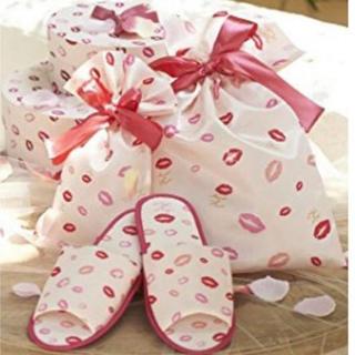 メゾンドフルール(Maison de FLEUR)のMaison de FLEUR メゾンドフルール 花嫁スリッパ&リボン巾着3点(その他)