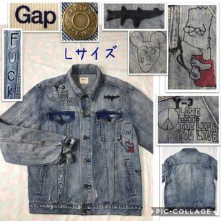 ギャップ(GAP)の男性 L《Gap》(イラスト入り)デニムジャケット(Gジャン/デニムジャケット)