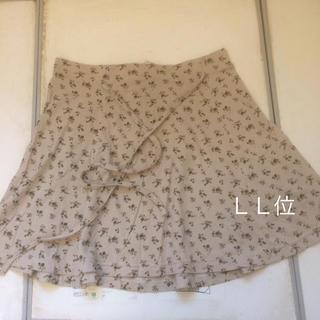 大きいサイズ  綿100%小花柄ミニスカート(ミニスカート)
