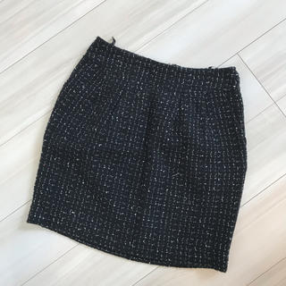 プーラフリーム(pour la frime)のプーラフリーム ツィード ひざ丈 スカート(ひざ丈スカート)