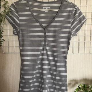 Old Navy - ライトグレー半袖Tシャツ