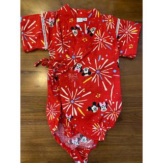 ディズニー(Disney)のディズニー ミッキー ミニー 甚平 浴衣 70(甚平/浴衣)