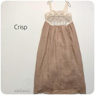 クリスプ(Crisp)のCrisp クリスプ . 胸レース 切り替え フレア マキシ ワンピース(ロングワンピース/マキシワンピース)