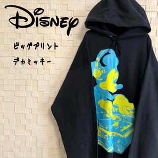 ディズニー(Disney)の【大人気】ディズニー ビッグプリントパーカー デカミッキー 個性派アイテム♡(パーカー)