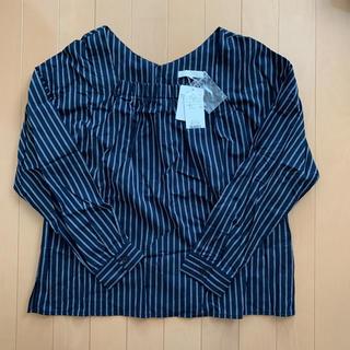 エージーバイアクアガール(AG by aquagirl)の新品 アクアガール  2wayストライプブラウス(シャツ/ブラウス(半袖/袖なし))