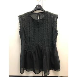 ルネ(René)のルネ レースブラウス ブラック36(シャツ/ブラウス(半袖/袖なし))