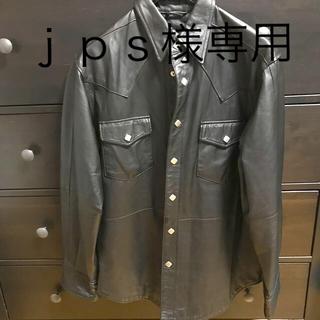 ショット(schott)のレザージャケットシャツ ブラック メンズ シーズンオフ値下げ(レザージャケット)