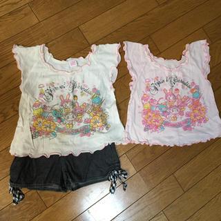 メゾピアノ(mezzo piano)のTシャツ2枚+短パンセット(Tシャツ/カットソー)