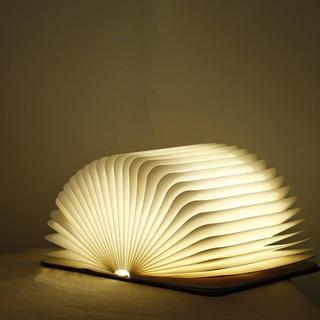 ブック型ライト ナイトライト常夜灯 ベッドサイド 授乳ランプ ブラウン(フロアスタンド)