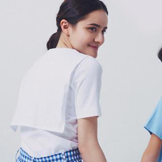 ドゥロワー(Drawer)のyori✨ヨリ【バックセーラーTee 】ホワイト Tシャツ カットソー(Tシャツ(半袖/袖なし))