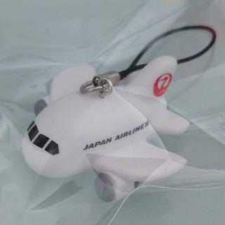 ジャル(ニホンコウクウ)(JAL(日本航空))の☆JAL 日本航空 飛行機 マスコットキーホルダー(ノベルティグッズ)