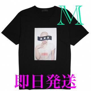 ✨GOD SELECTION ゴッドセレクション レディガガ Tシャツ M 黒✨(Tシャツ/カットソー(半袖/袖なし))