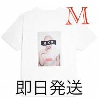 ✨GOD SELECTION ゴッドセレクション レディガガ Tシャツ M 白✨(Tシャツ/カットソー(半袖/袖なし))