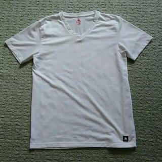 ルコックスポルティフ(le coq sportif)の無地白TシャツV首 L(Tシャツ/カットソー(半袖/袖なし))