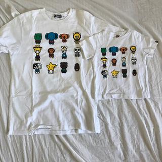 アベイシングエイプ(A BATHING APE)のエイプTシャツ親子コーデセット(Tシャツ/カットソー)