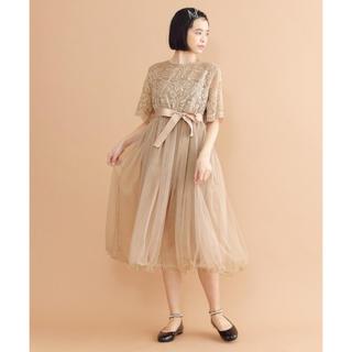 merlot - 【新品】レースチュール ドレス