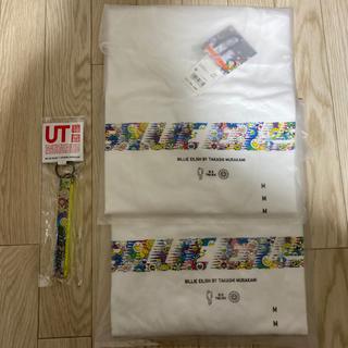 ユニクロ(UNIQLO)のビリーアイリッシュ 村上隆 UT M  2枚セット& キーホルダー付き(Tシャツ(半袖/袖なし))