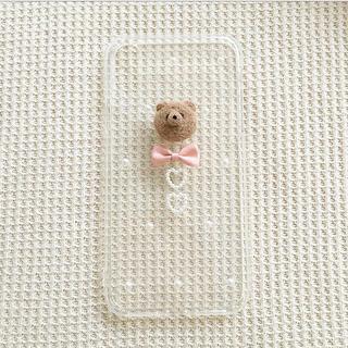 くまさんとリボンのスマホケース(iPhoneケース)