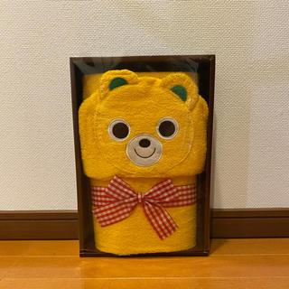 mikihouse - 【新品未使用】ミキハウス フード付きバスタオル