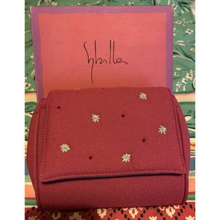 シビラ(Sybilla)のSybilla ふわふわ刺繍ポーチ 大地と花の色 未使用(ポーチ)