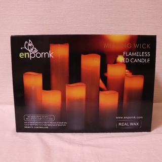 LEDキャンドル/9本/電池式/リアルな炎の揺れ/リモコンなし(その他)