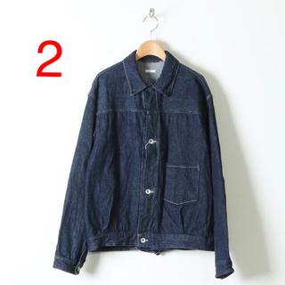 コモリ(COMOLI)の20AW コモリ デニムジャケット サイズ2 ネイビー(Gジャン/デニムジャケット)