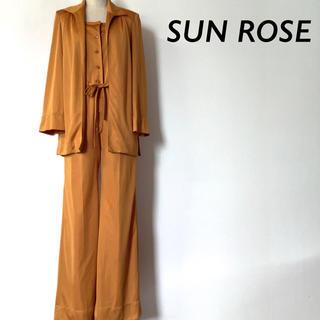SUN  ROSE セットアップ ジャケット & サロペット マスタード(セット/コーデ)