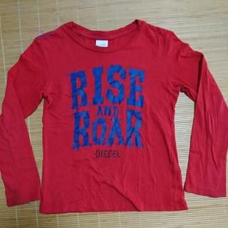ディーゼル(DIESEL)の【DIESEL】size8(127)赤色長袖Tシャツ ディーゼル(Tシャツ/カットソー)