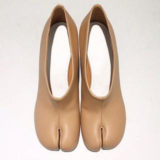 マルタンマルジェラ(Maison Martin Margiela)のマルジェラ 足袋バレエ 足袋ブーツ 足袋サボ  ベージュ 36(ハイヒール/パンプス)