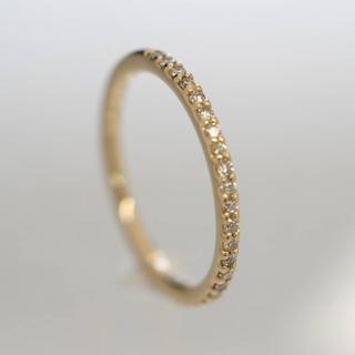 ヨンドシー(4℃)の質屋出品r 4℃ ヨンドシー天然ダイヤモンドエタニティリング K10YG 3号(リング(指輪))