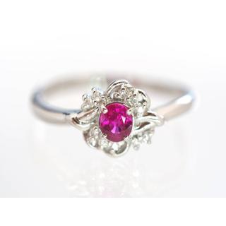 質屋出品ii 天然良質ルビーダイヤモンドリング Pt90014号(リング(指輪))