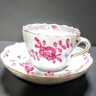 マイセン(MEISSEN)のマイセンカップ&ソーサー インドの華枝付きピンク (食器)