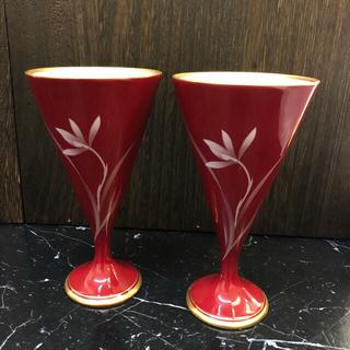 コウランシャ(香蘭社)の【新品・未使】☆有田焼の老舗 香蘭社 ペアワインカップ(グラス/カップ)