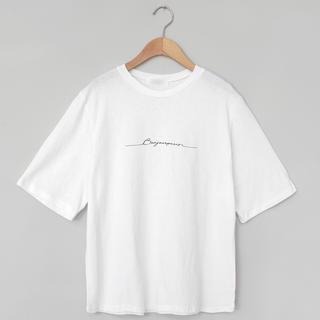 ディーホリック(dholic)のフロントレタリング半袖ロゴTシャツ dholic(Tシャツ(半袖/袖なし))