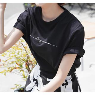 ディーホリック(dholic)のフロントレタリング半袖ロゴTシャツ 新品未使用品(Tシャツ(半袖/袖なし))