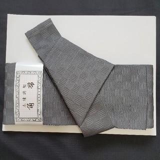 新品 紳士メンズ ワンタッチ角帯 グレー 市松柄 日本製 簡単(浴衣帯)