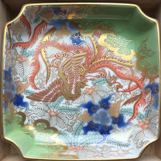 深川青磁 飾り皿 箱付き 鶯色(食器)