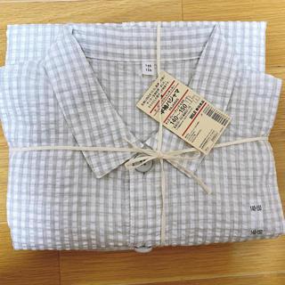 ムジルシリョウヒン(MUJI (無印良品))の無印 半袖パジャマ 140〜150 グレーチェック(パジャマ)