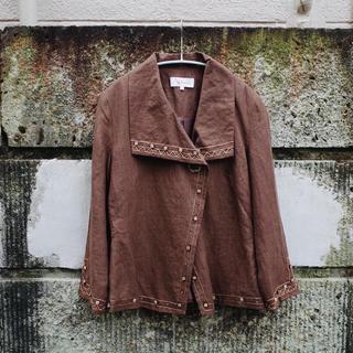 アメリヴィンテージ(Ameri VINTAGE)のVintage 90's Indian linen jacket / Brown(テーラードジャケット)
