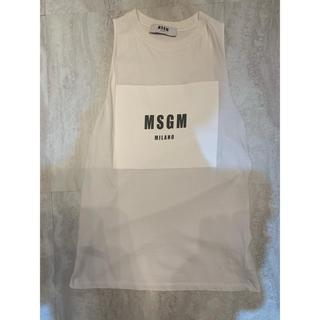 エムエスジイエム(MSGM)のMSGMロゴプリントタンクトップmsgm(Tシャツ(半袖/袖なし))