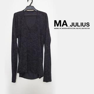 JULIUS - MA_JULIUS プリントカットソー Tシャツ 1 2012FW チャコール
