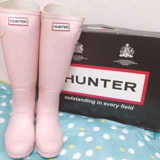 ハンター(HUNTER)のHUNTER ハンター レインブーツ ピンク UK3  /22.5cm(長靴/レインシューズ)