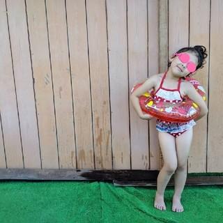 女の子 水着 キッズスイムウェア 100(水着)