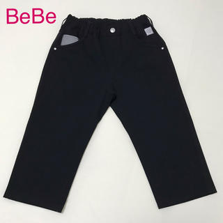 ベベ(BeBe)のハーフパンツ(膝丈)   ブラック(パンツ/スパッツ)