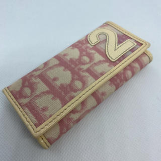 Christian Dior - ディオール トロッターNO.2  4連キーケース ピンク