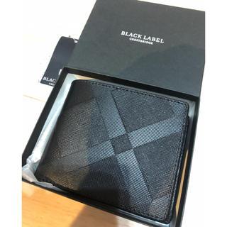 ブラックレーベルクレストブリッジ(BLACK LABEL CRESTBRIDGE)の新品 ブラックレーベルクレストブリッジ 二つ折り財布 バーバリー ウォレット(折り財布)