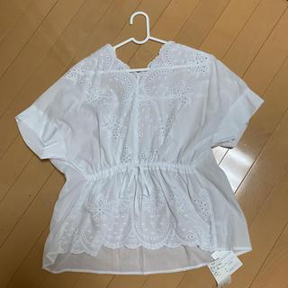 サンカンシオン(3can4on)の新品 3カン4オン レースブラウス(Tシャツ(半袖/袖なし))