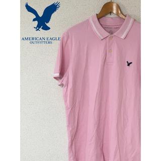 アメリカンイーグル(American Eagle)のアメリカンイーグル ポロシャツ ピンク うすピンク L(ポロシャツ)