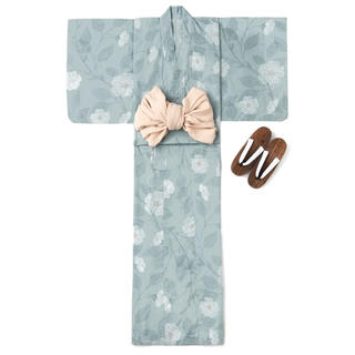 GRL 4点セットモダンフラワー柄浴衣 新作 rili tokyo系 よもぎもち